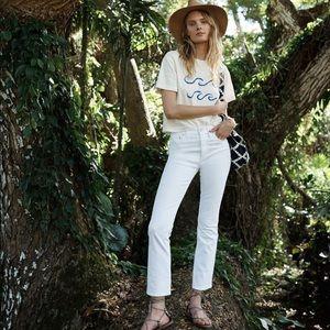 Madewell white Cali Demi denim jeans, size 29